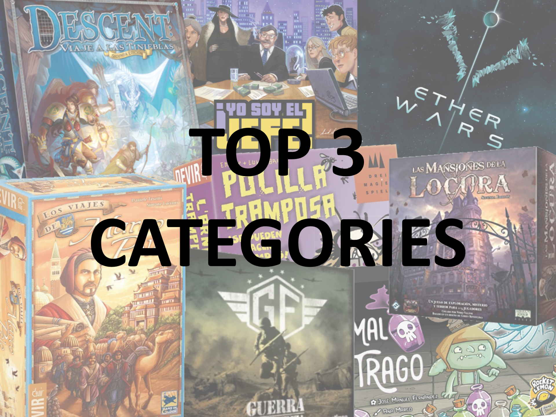 top 3 categories