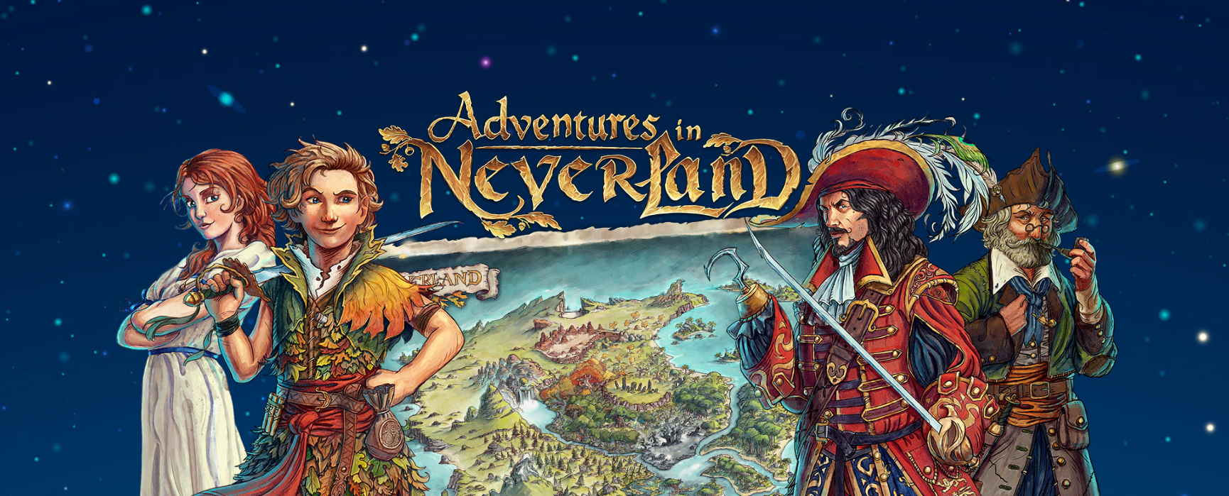 Adventures in Neverland portada